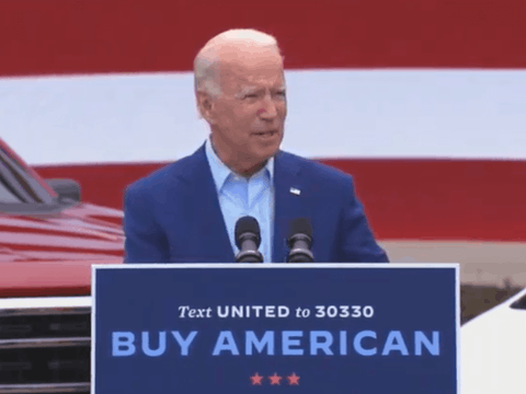 Screenshot of a stream by Biden for President.