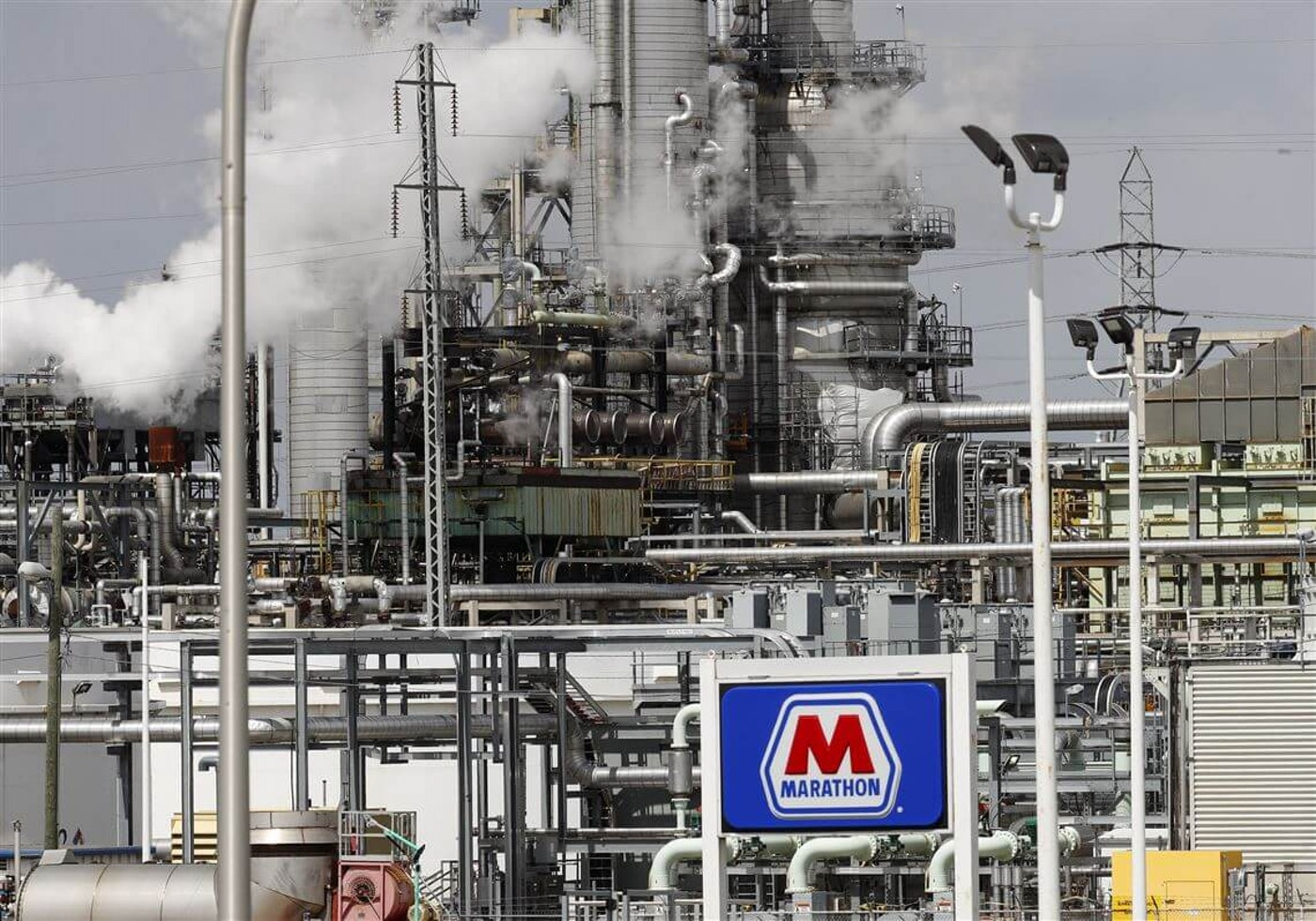 Refinery giant Marathon Petroleum, which operates its Detroit-area refinery in what is now Michigan's most polluted zip code. (AP photo)
