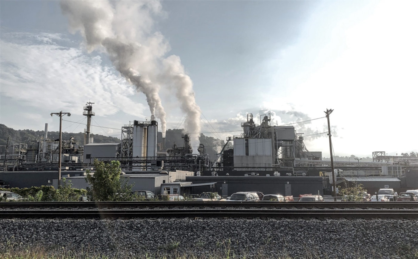 Consumers Energy demolished a coal-fired power plant in Bay County.