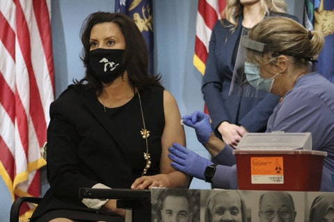 Michigan Gov. Gretchen Whitmer led by example when she asked Michiganders to get flu shots this season. Photo courtesy of the Governor's office.