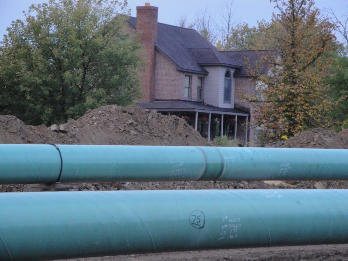 A pipeline easement is about 60 feet north of Ronald Kardos' front porch.