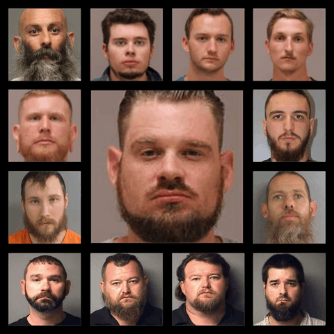 Mugshots of the 13 conspirators involved in the domestic terror plot against Gov. Whitmer.