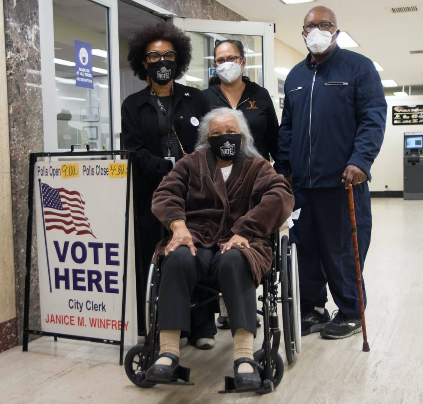 Mildred Madison left Michigan to care for her sister. Now, her family has returned the favor by helping her travel 300 miles back to Detroit to cast her vote.