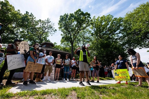 Black Lives Matter activists in Port Huron, Michigan.