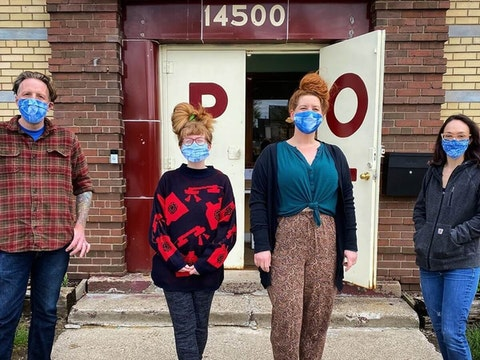 A small business in Detroit making masks for the coronavirus pandemic, supported by Michigan Women Forward.