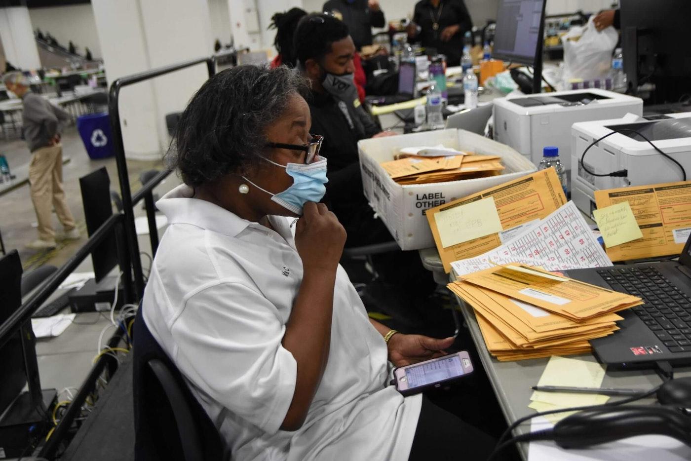 A Detroit polling site. Photo by Montez Miller.