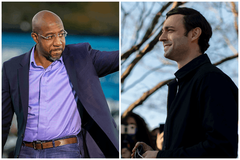 Sens. Raphael Warnock and John Ossof of Georgia.