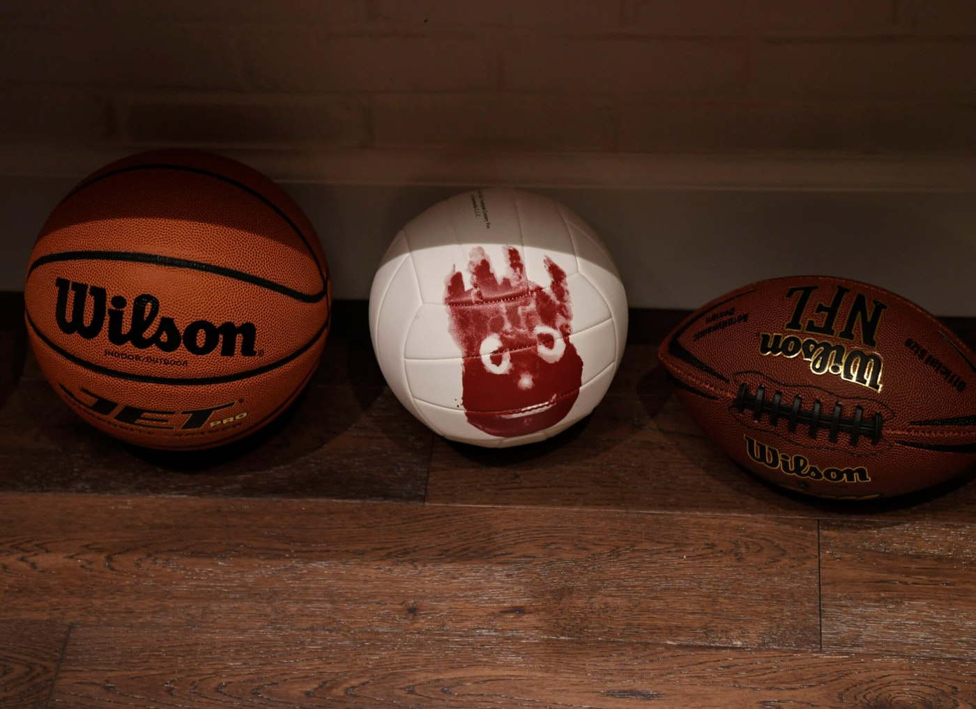 DENVER, CO - August 05: A basketball, Wilson the volleyball and a football, just a few of many things on the Gear Garage at the brand new Halcyon Hotel in Cherry Creek August 05, 2016. Guests of the hotel can check out a vintage film camera, skateboards and long boards, basketballs, electric bikes and many other items. (Photo by Andy Cross/The Denver Post via Getty Images)