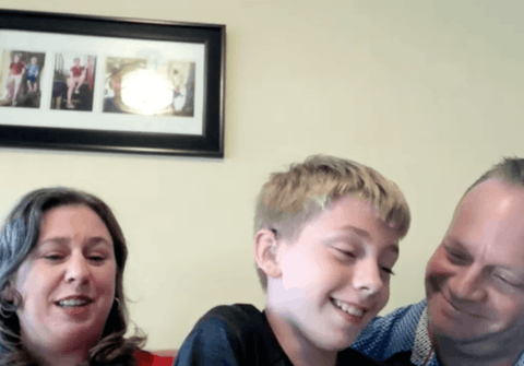A Zoom video call with the Kesslers
