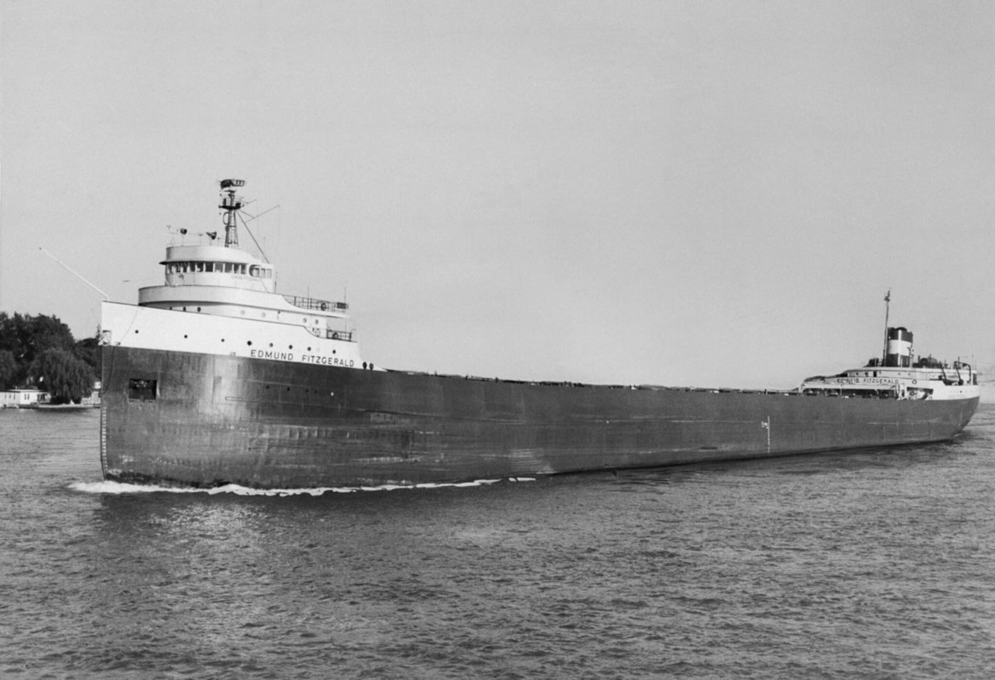 The 729-foot ore boat Edmund Fitzgerald, shown in 1972 file photo, sank with all its 29 crew perishing with it.